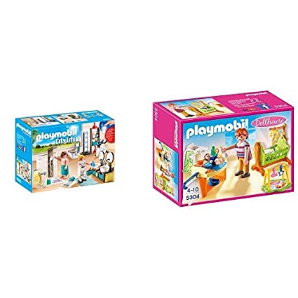 Playmobil 9268 - Badezimmer & 5304 - Babyzimmer mit Wiege