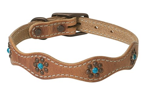 Weaver Leather Santa Fe Dog Collar, 5/8 x 13-Inch, Russet (Turquoise Collar Dog)