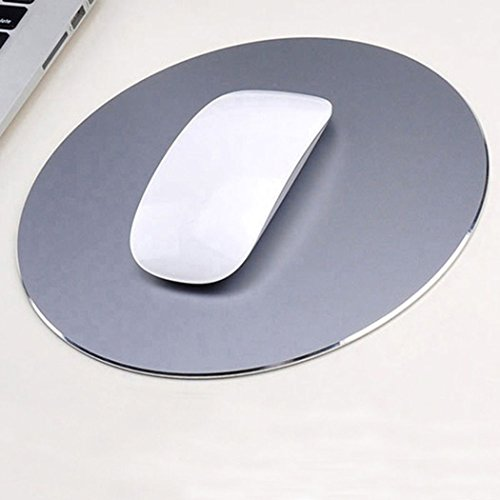 Mouse Pad Aluminum Mouse Pad. Non-Slip Aluminium alloy Surface for Fast and Accurate Control Rubber Gaming Mouse Pad (Fashion (Mouse Grey Rubber)