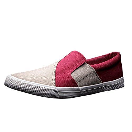 Geachte Tijd Mode Canvas Schoenen Vrijetijdsschoenen Rood