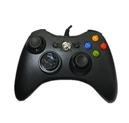 Wanrane Wired USB Controller Gamepad,Portable Gamepad Suitable for Microsoft XBOX360 Black
