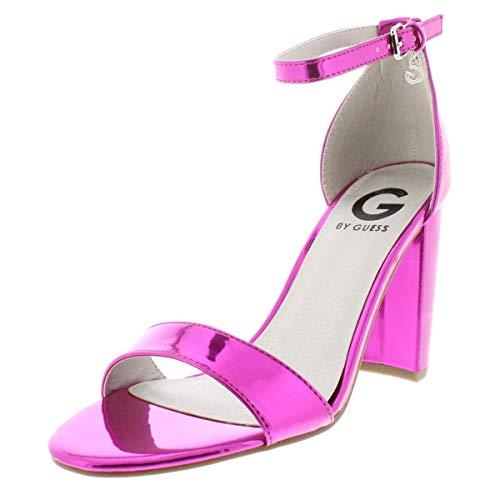 Sandals Guess Metallic (G by GUESS Womens Shantel 3 Metallic Dress Sandals Pink 8 Medium (B,M))