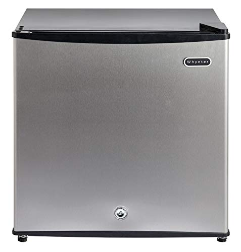 Whynter CUF-112SS 1.1 cu. ft. Energy Star Upright Lock-Stainless Steel Freezer, Cubic Feet (Renewed)