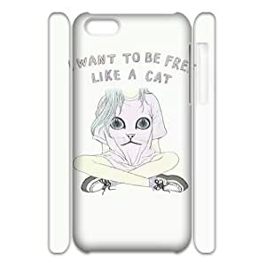 Be Free Custom 3D Cover Case for iPhone 5C, Custom Be Free 3D Cell Phone Case