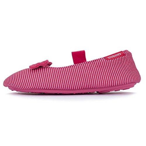 Ballerina-Hausschuhe Mädchen Streifen Isotoner 29