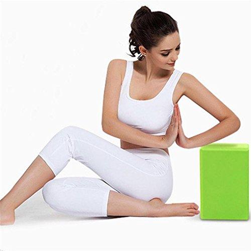 Dzt1968 Ejercicio Fitness Resistente Al Estiramiento Yoga Almohada Gimnasio Ladrillo Verde