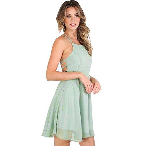las de respaldo sin sin Verde del vendaje s del del mujeres coctel mangas partido RETUROM Mini vestido RqxAOA