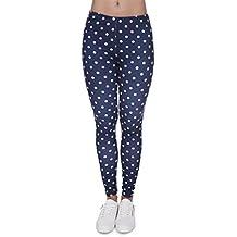 FITN Women Legins Blue Printing Legging Fashion Casual High Waist Woman Leggings