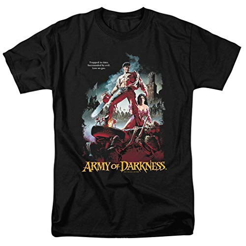 Army of Darkness Movie Poster Bruce Campbell T Shirt & Stickers (X-Large) Black
