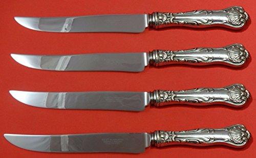 Sterling Silver Steak Knife - Imperial Queen by Whiting Sterling Silver Steak Knife Set 4pc Texas Sized Custom