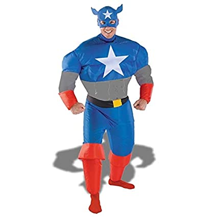 Amazon.com: Captain America costume Inflatable superhéroe ...