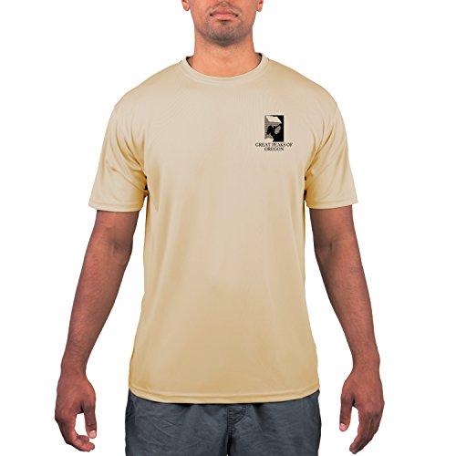 American Backcountry Men's Great Peaks of Oregon UPF Short Sleeve T-shirt Small Vegas Gold