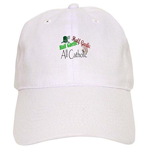 CafePress Half Gaelic Half Garlic All C Baseball Cap with Adjustable Closure, Unique Printed Baseball Hat White ()