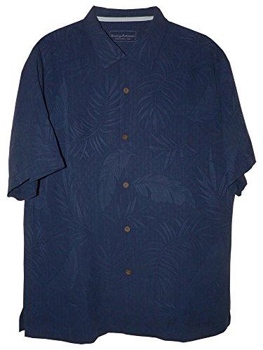 Tommy Bahama Tiki Palms Silk Camp Shirt (Color: Navy, Size L)