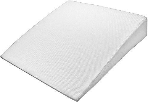 PharMeDoc Bed Wedge Support Pillow - Washable Case – Therapeutic Relief for Sleeping, Back & Leg Pain –