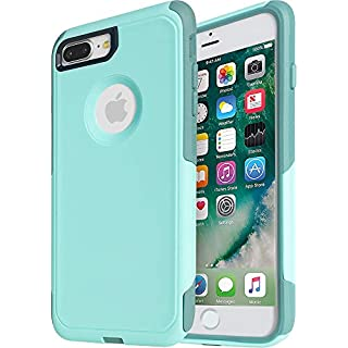 Krichit Commuter Series Case for iPhone 8 Plus Commuter Case Heavy Duty Case iPhone 7 Plus Case(Aqua Mint)