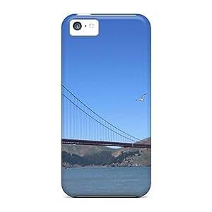 Defender Case For Iphone 5c, Beautiful Bridges Free The Golden Gate Pattern