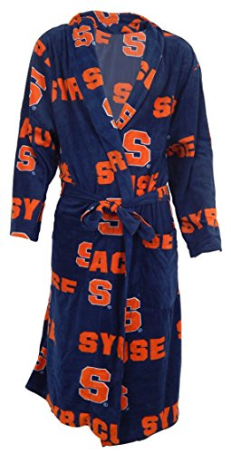 Syracuse University Orange NCAA Men's Scatter Pattern Micro Fleece Robe by Concepts Sport