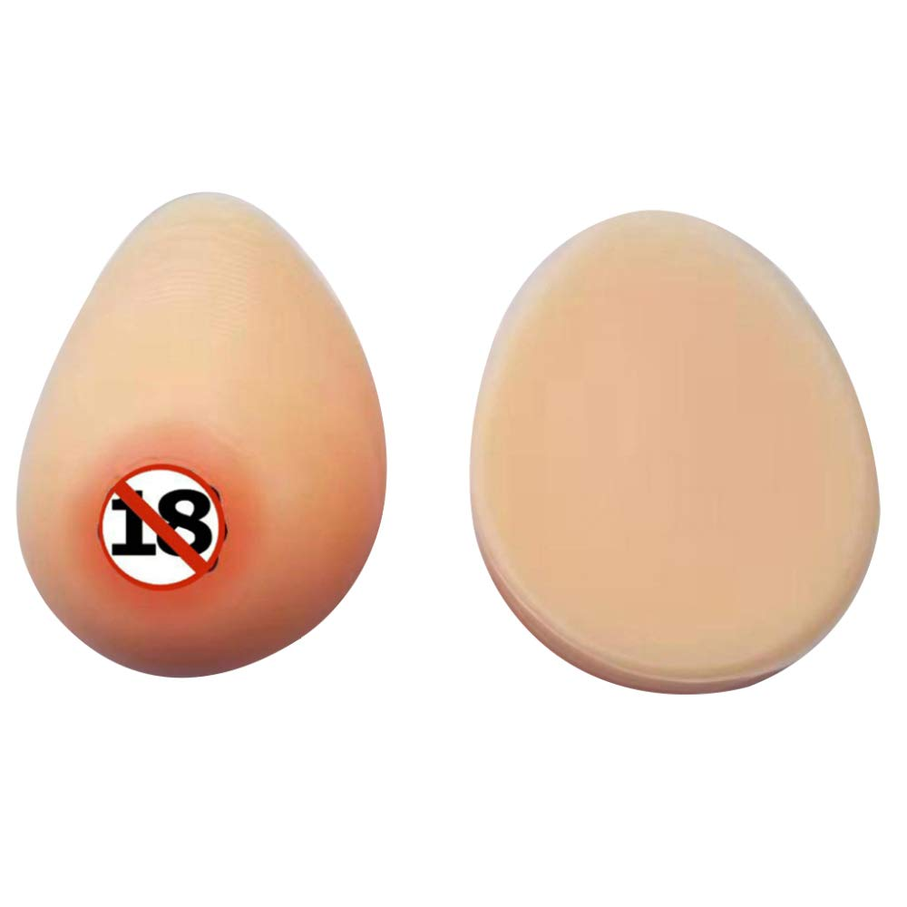 WheatcolorIsNotSticky MZX Fake Boobs Silicone Breast Full Boob Touch Feeling Like Real Human Breasts 1 Pair Water Drop Shape