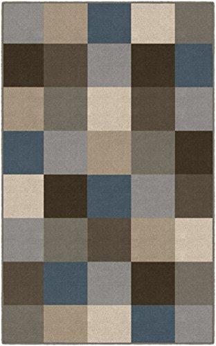 - Brumlow Mills EW10236-30x46 Contemporary Blue Color Blocks Modern Area Rug, 2'6