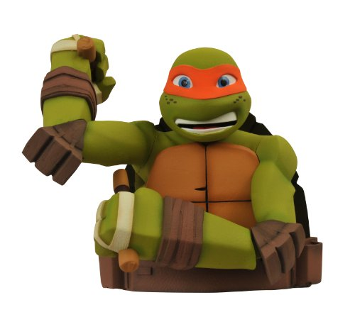 Diamond Select Toys Teenage Mutant Ninja Turtles: Michelangelo Bust Bank