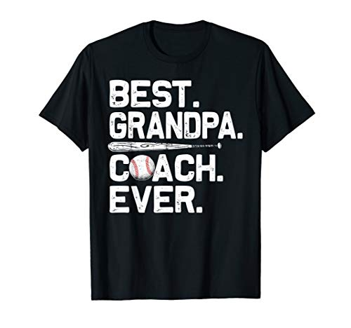 (Mens Best Grandpa Coach Ever T Shirt Baseball Fathers Day Gift)