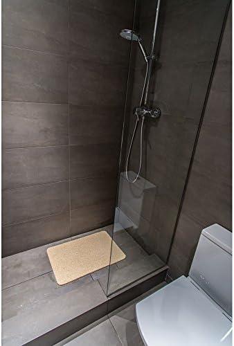 gris 40/x 60/cm producto original anunciado en la televisi/ón alemana Alfombrilla antideslizante de lujo para ba/ñera y ducha 40 x 60 cm en color beige o gris Hydro Wonder/®