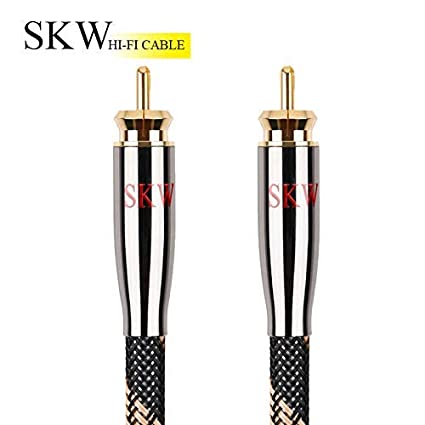 Amazon.com: SKW RAC to RCA Subwoofer Cable,Multiple Shield with Single Crystal Copper for HiFi Systems(49.2ft/15M,Black): Home Audio & Theater