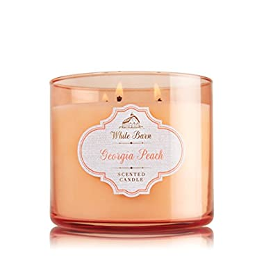 Bath and Body Works 14.5 Oz 3 Wick Candle Georgia Peach