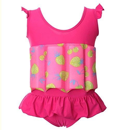 Zerlar Baby Girls Swimming Float Suit with Adjustable Buoyancy Swimwear Swimsuit