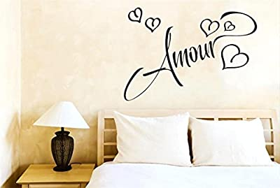 Amour Love In French ART wall quote STICKER TRANSFER vinyl DECAL
