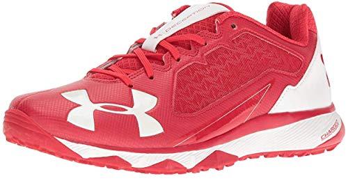 94d90d96a Under Armour UA Deception Trainer Men's Red-White Baseball Turf Shoe 13 US  (Apparel)