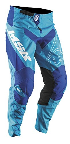 MSR Axxis Pants, Distinct Name: Cyan/White/Royal, Gender: Mens/Unisex, Primary Color: Blue, Size: 34
