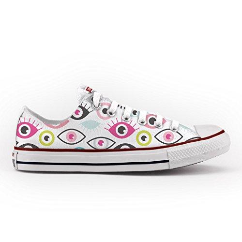 Converse All Star Personnalisé et Imprimés - chaussures à la main - produit Italien - Pop Eyes