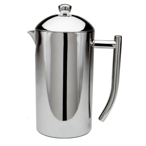 Frieling USA Double Wall Stainless Steel French Press Coffee Maker with Patented Dual Screen, Polished, - Pot Coffee Press