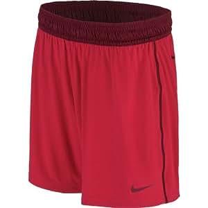 "Nike Women's 7"" Fly Knit Shorts (Black/Medium Purple, Small)"