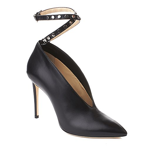 Jimmy Choo Women's 'Lark 100' Leather Ankle Strapped High Heel Pump Shoes...