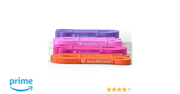 Bandelicious Women s Heavy-Duty Resistance Bands for Full Body Home  Workouts – Exercise Bands Ideal for Fitness 7fc1c0fd38
