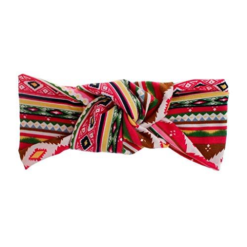 iNoDoZ Women's Fashion Colorful Stripes Headband Boho Print Cross Criss Knot Tie Headwrap Hairband Hoop Accessories