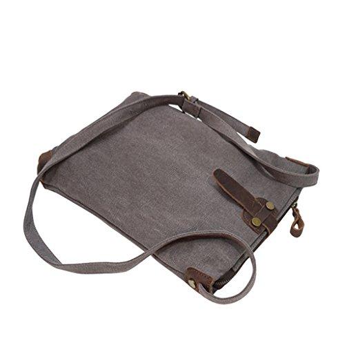 Sucastle Retro Tasche lässig Tasche Schultertasche Messenger Bag Tragetasche Sucastle Farbe: Grau Größe: 32x26x7cm