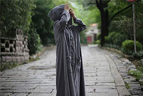 En Peignoir Capuche Coton Avec Rembourré Pourtrench Egcra D'hiver Chapeau De Femme Gray Manteau vent Coupe Manteaux À wIqZYxHtY