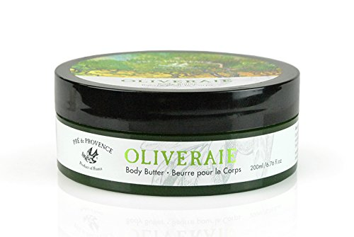 Olive Cocoa Butter Oil (Pre de Provence Oliveraie Olive Tree Collection with Vitamin E and Antioxidants, Smooth, Natural Body Butter)
