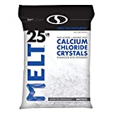 Snow Joe MELT25CC Melt Calcium Chloride Crystals Ice Melter Resealable Bag, 25-Pound