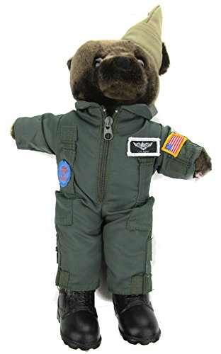 Stuffed Plush Teddy Bear in U.S. Navy Flightsuit - Navy Bear