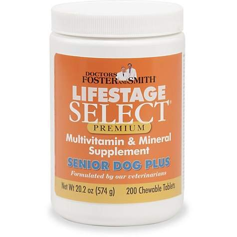 Doctors Foster + Smith Lifestage Select Premium Senior Dog Multivitamin & Mineral Supplement (200)