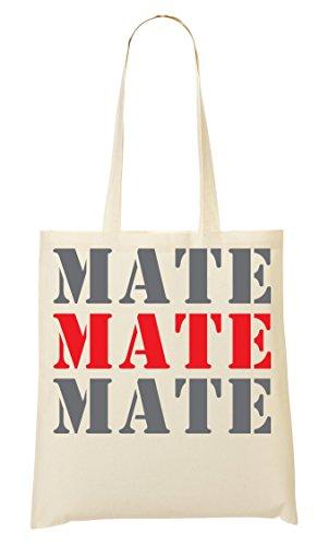 Mate Mate Mate Funny College Night Life Slogan Bolso De Mano Bolsa De La Compra