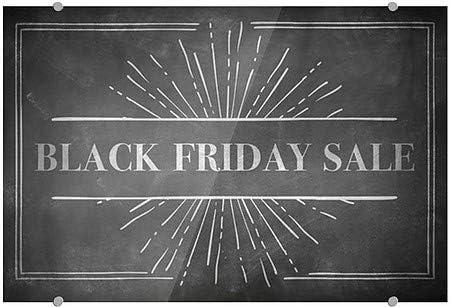 27x18 5-Pack CGSignLab Chalk Burst Premium Brushed Aluminum Sign Black Friday Sale