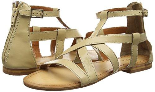 Strap Sandales Leather Femme Beige Tantra Sandal awdBqn6