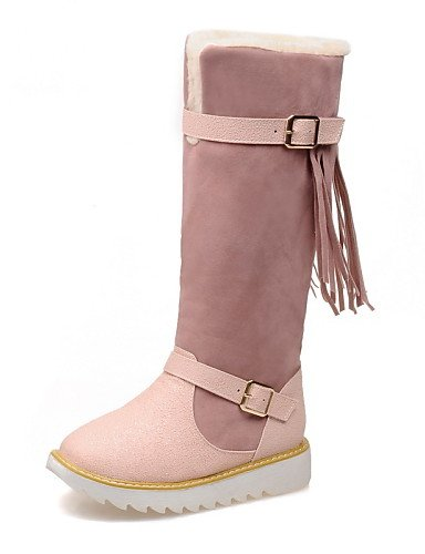 Pink Moda Punta Uk8 Eu42 Cn43 Nieve Casual Redonda Plataforma us10 Mujer Botas 5 A 5 La Zapatos Vestido De Xzz vellón Yqxw6vSxC