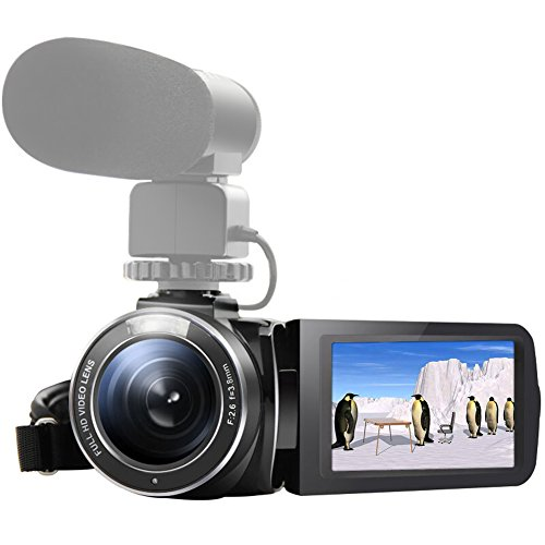 SEREE HDV-520 Camcorder WIFI External Microphone Jack Input FHD 1080p 24.0MP 3.0″ Screen 16X Digital Zoom Digital Camera Video Recorder